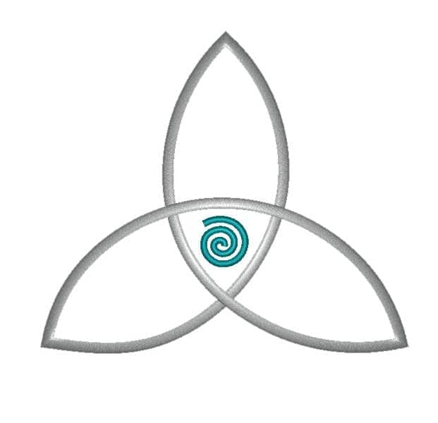 Triskele Blatt mit Spirale