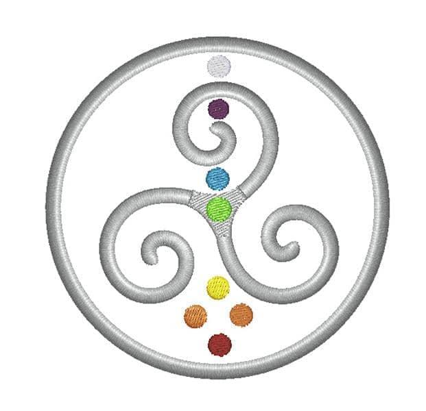 Triskele Spiral bunt