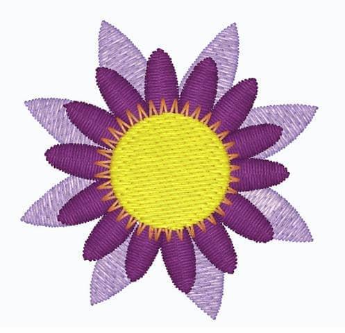 Lotusblume offen (flieder, lila, gelb)