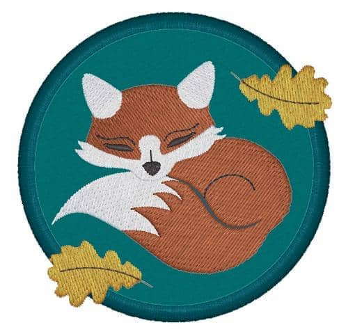 Fuchs schlafend Stoffkreis