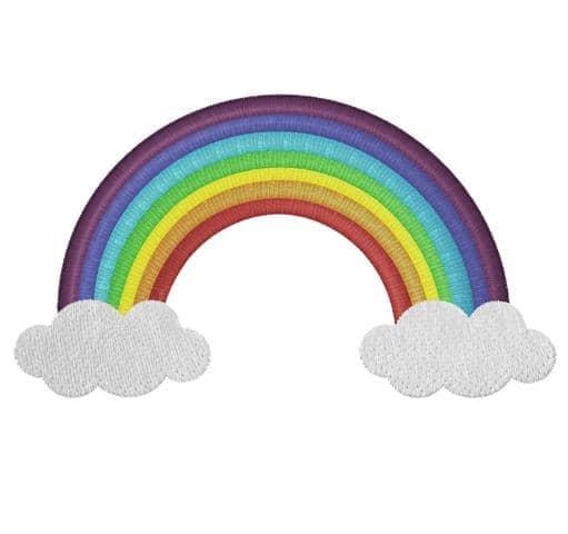 Regenbogen mit Wolken